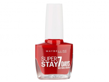 Maybelline Super Stay 7 Días Esmalte Forever Strong  06 Deep Red