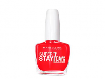 Maybelline Esmalte Super Stay 7 Días Forever Strong 490 Hot Salsa x 10ml