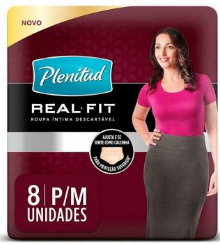 Plenitud Ropa Interior Desechable Real Fit Mujer P/M x 8 Unidades